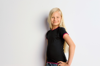 Bella Girl's T-Shirt: 100% Cotton Short-Sleeve Jersey 2 in 1 (B9003)