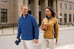 Chestnut Hill Men's Jacket: Polartec Colorblock Quarter-Zip (CH970)
