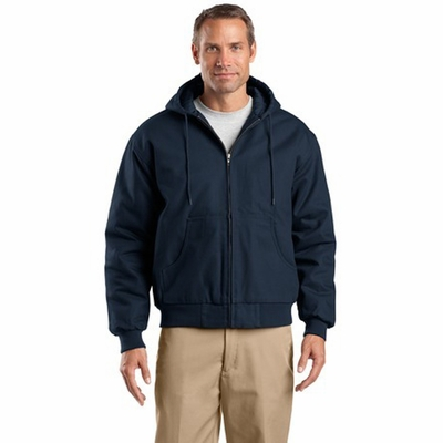 CornerStone Men's Jacket: 100% Cotton Duck Cloth Hooded Work (J763H)