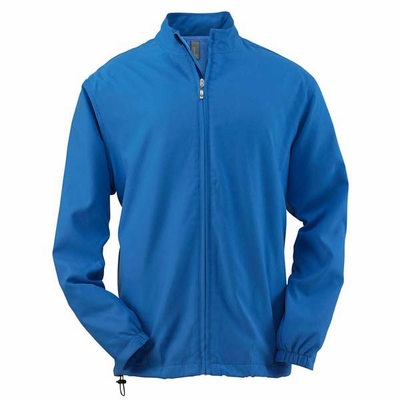 Ashworth Men's Jacket: 100% Polyester Doeskin Wind Full-Zip Lined (5378)