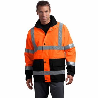 CornerStone Men's Safety Parka: ANSI Class 3 Waterproof (CSJ24)