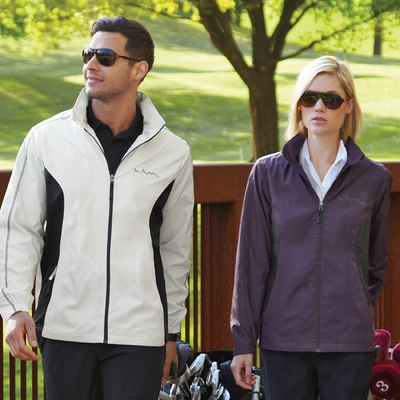 North End Women's Jacket: Lightweight Tonal Pattern w/ Contrast Piping (78169)
