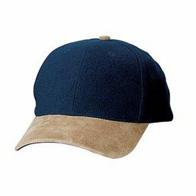 Port Authority Cap: 100% Cotton 2-Tone Brushed Twill Suede Visor (BTS)