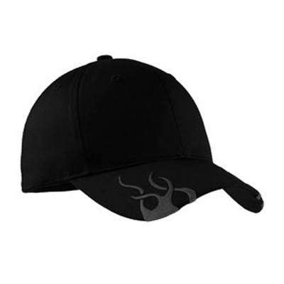 Port Authority Racing Cap: 100% Cotton Flames (C857)