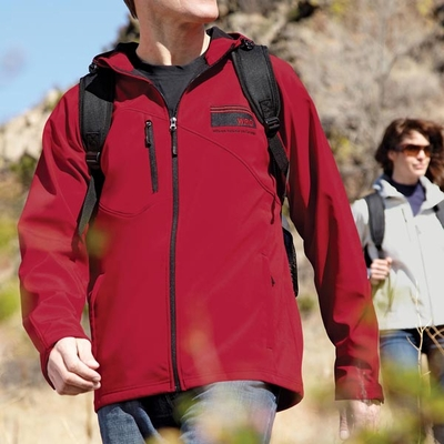 North End Men's Jacket: Water Repellant 2-Layer Fleece Bonded Soft Shell (88166)
