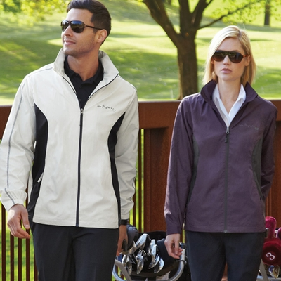 North End Men's Jacket: Lightweight Tonal Pattern w/ Contrast Piping (88169)