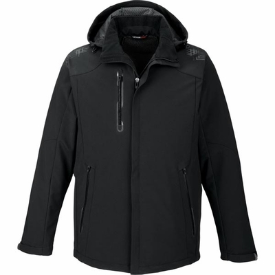 North End Men's Jacket: Stretch Fit Water Resistant Soft Shell  (88665)