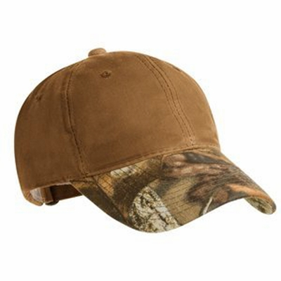Port Authority Cap: 100% Cotton Pro Series Waxed with Camouflage Brim (C877)