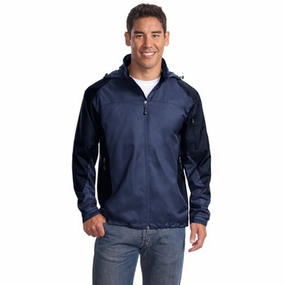 Port Authority Men's Jacket: Endeavor Full-Zip with Stowaway Hood (J768)