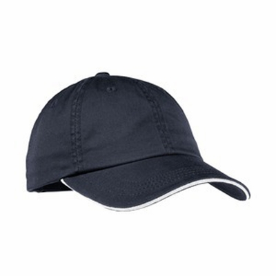 Port Authority Women's Cap: 100% Cotton Signature Sandwich Bill Striped Closure (LC830)