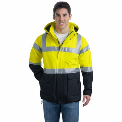 Port Authority Men's Safety Parka: ANSI 107 Class 3 Heavyweight (J799S)