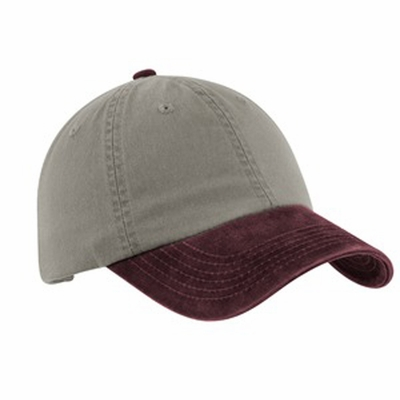 Port Authority Cap: 100% Cotton Two-Tone Garment-Washed (PWTTU)