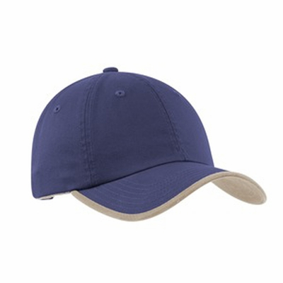 Port Authority Cap: 100% Cotton Twill Contrast Visor Trim and Underbill (UBWT)