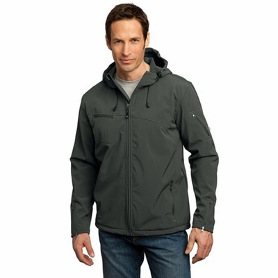 Port Authority Men's Jacket: Textured Hooded Soft Shell (J706)