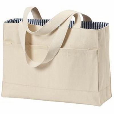 Port & Company Tote Bag: Double Pocket (B450)