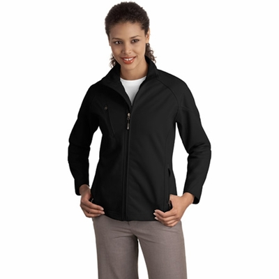 Port Authority Women's Jacket: Textured Stretch Soft Shell (L705)
