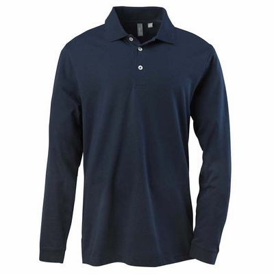 Ashworth Men's Polo Shirt: Pima Cotton Blend EZ-Tech Long Sleeve (1352)