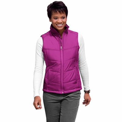 Port Authority Women's Vest: Puffy Pocketed Full-Zip (L709)