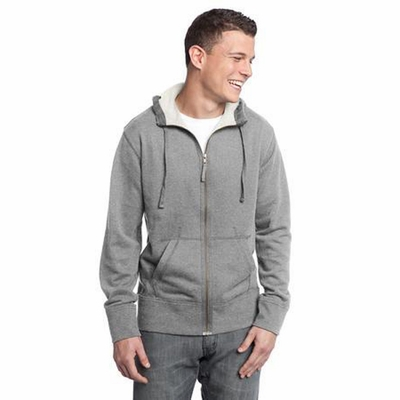 District Threads Men's Sweatshirt: 100% Cotton Vintage French Terry Full-Zip Hoodie (DT133)