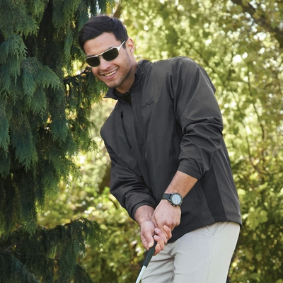 North End Men's Jacket: Lightweight Tonal Pattern w/ Contrast Piping (88170)
