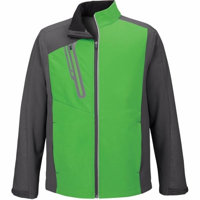 North End Men's Jacket: Stylish Full-Zip Colorblock Soft Shell  (88176)