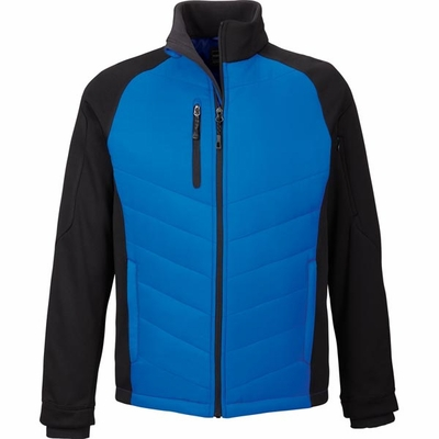 North End Men's Jacket: Lightweight Insulated Bonded Fleece Hybrid (88662)
