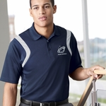 Extreme Men's Polo Shirt: Color Wedge Snag Protection w/ Moisture Wicking (85109)