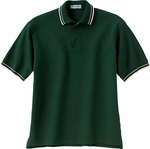 Extreme Men's Polo Shirt: 100% Cotton Johnny Collar Textured Stripe Trim Pique (85033)