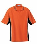 Extreme Men's Polo Shirt: Cotton Blend Pique With Checker Trim (85057)