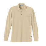 Extreme Men's Polo Shirt: Long Sleeve Pique With Teflon And Pocket (85076)