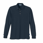 Extreme Men's Polo Shirt: Long Sleeve Pique With Teflon (85077)