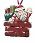 Wood Fok Art Ornament Chimney Santa - Sold