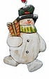 Snowman Christmas Ornament - Sold