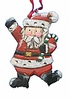 Wood Fok Art Santa Claus Ornament - Sold