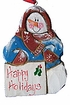 Wooden Fok Art Snowman Ornament #14018