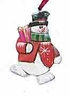 Folk Art Snowman Ornament #12199