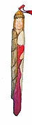 Wooden Angel Icicle Christmas Ornament