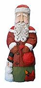 Great American Old World Santa with Snowman #13001