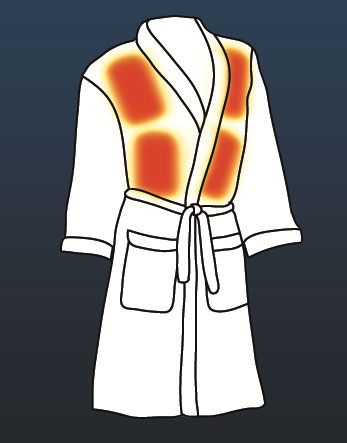Heated Bathrobe