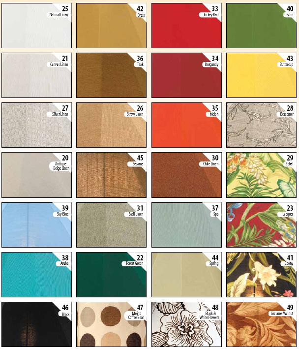 Patio Living Concepts Sunbrella Shade Fabrics