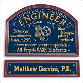 Large Trained Engineer Sign - Sold out