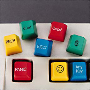 Computer Key Caps (Set of 8)