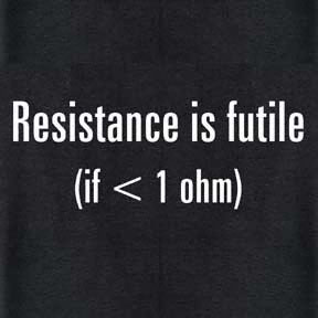 Resistance is Futile Science T-shirt