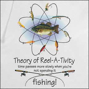 Einstein's Theory of Reel-a-tivity Fishing Funny Tshirt