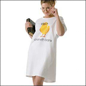 Chick with Brains Nightshirt