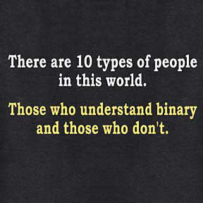 There are 10 Types Binary T-shirt