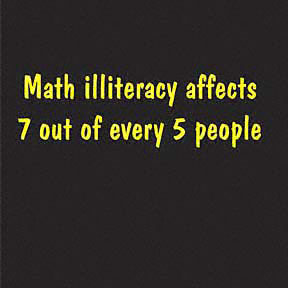 Math Illiteracy T-shirt