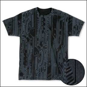Black Circuit All-Over Computer T-shirt