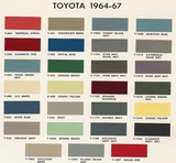 Toyota Color Code Book Sheets for 1964 to 1967 - Page 0