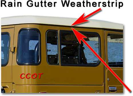 Fj40 Rain Gutter Weather Stripping 63 To 84